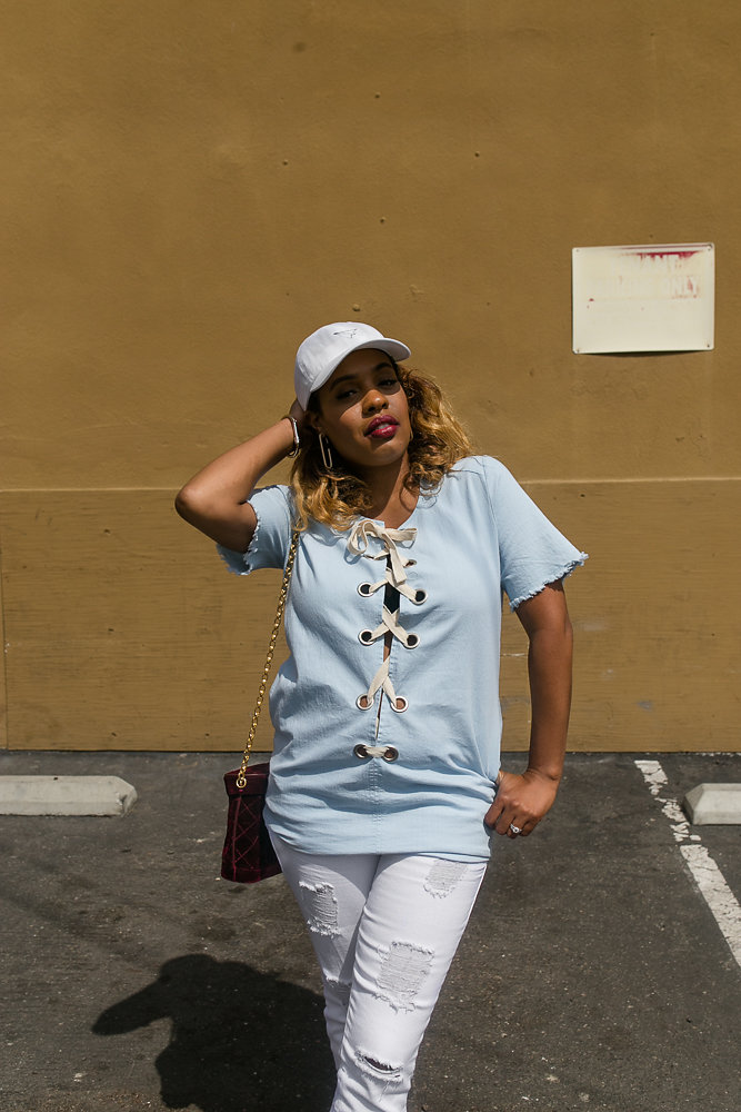 Hautemommie captured in STS Blue denim by RSee photography.