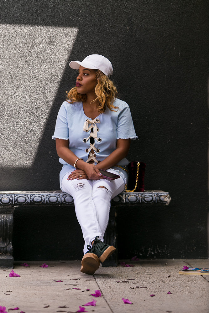 Outfit courtesy Dude Be Nice, STS Blue, and Puma x Fenty, see more at The Hautemommie