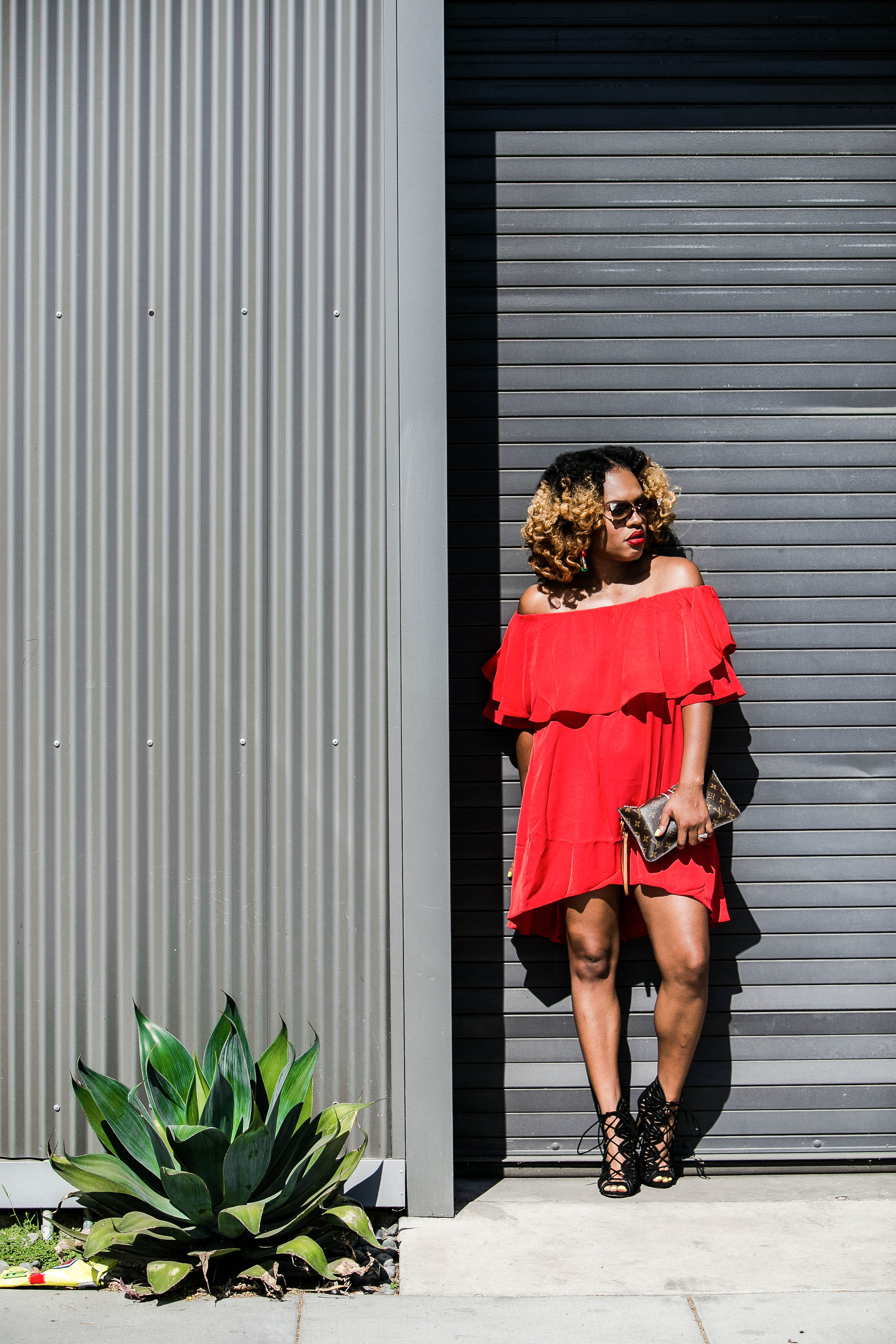 Off The Shoulder Trending in Red - https://thehautemommie.com/lady-in-the-red-dress/