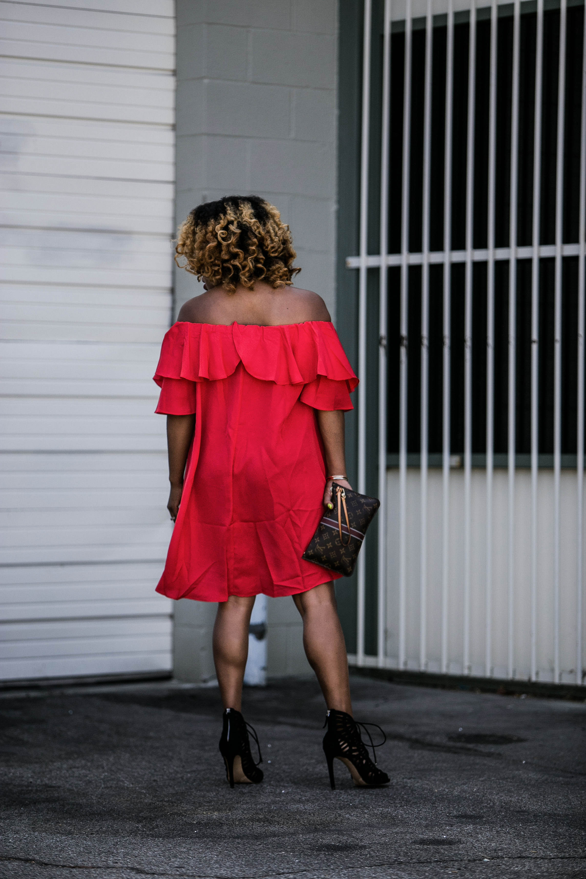 Behind The Scenes In She Inside - https://thehautemommie.com/lady-in-the-red-dress/