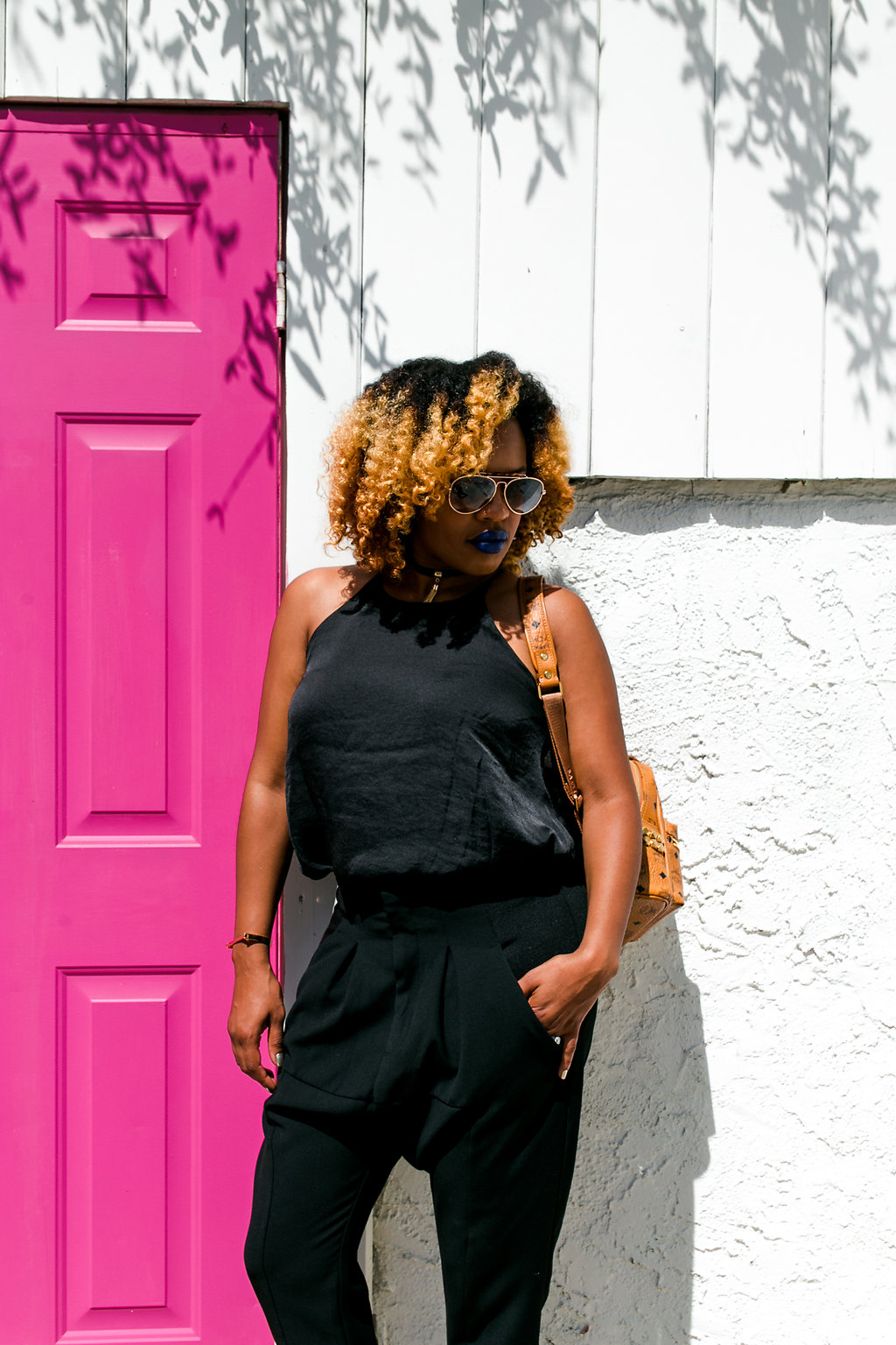 Pink Doors // https://thehautemommie.com/pop-of-color/
