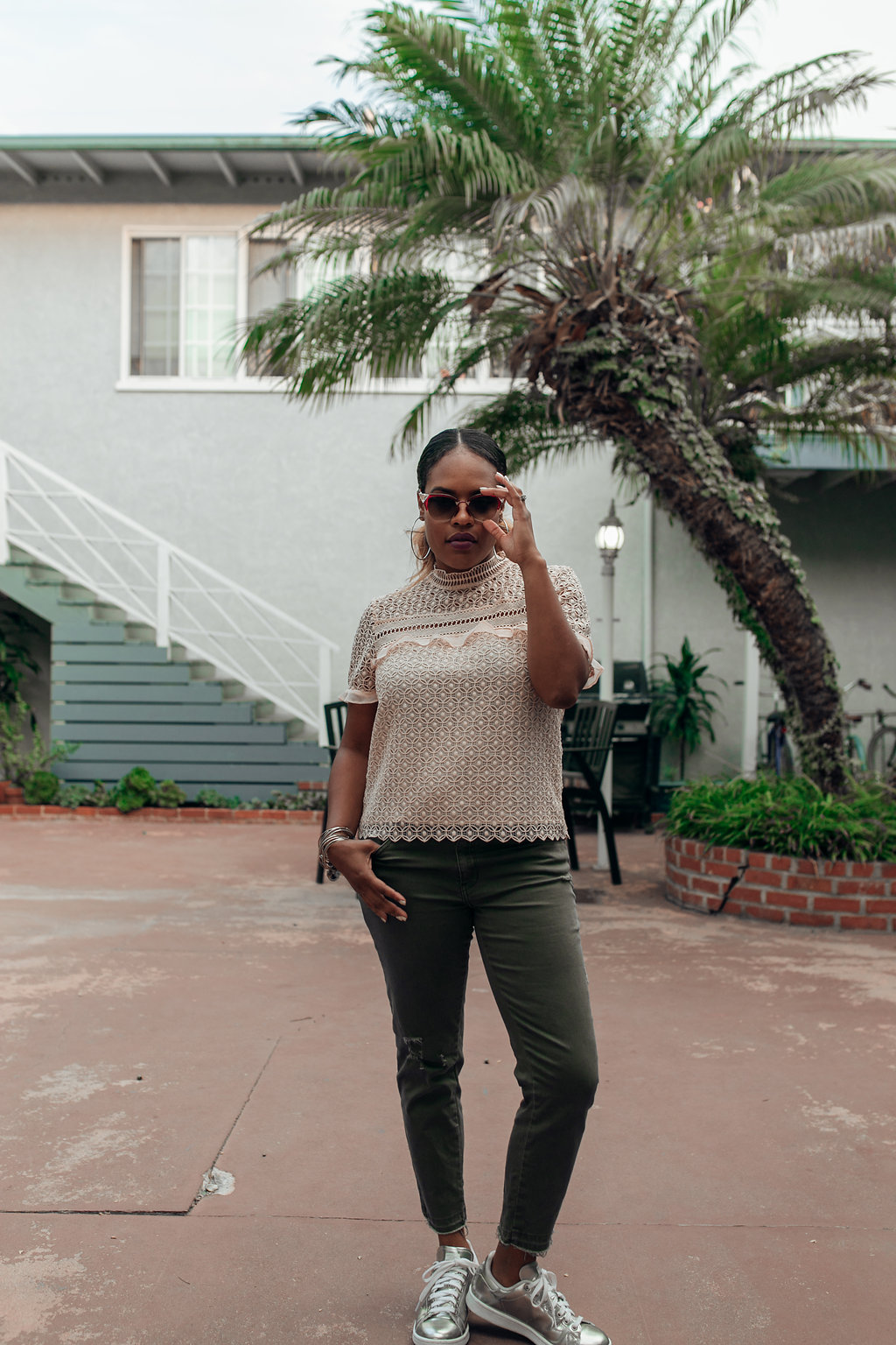 California Living in Fendi Shades // https://thehautemommie.com/living-green-bit-by-bit/