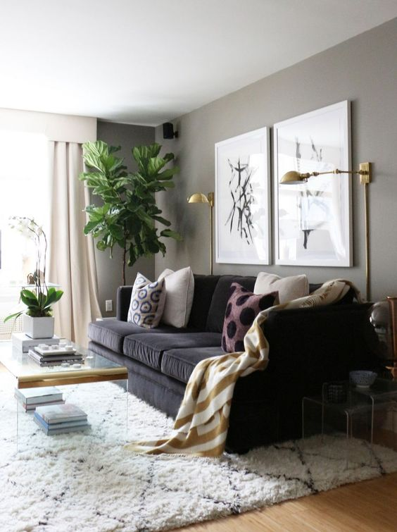 Dark and Cozy // https://thehautemommie.com/making-my-house-a-home/