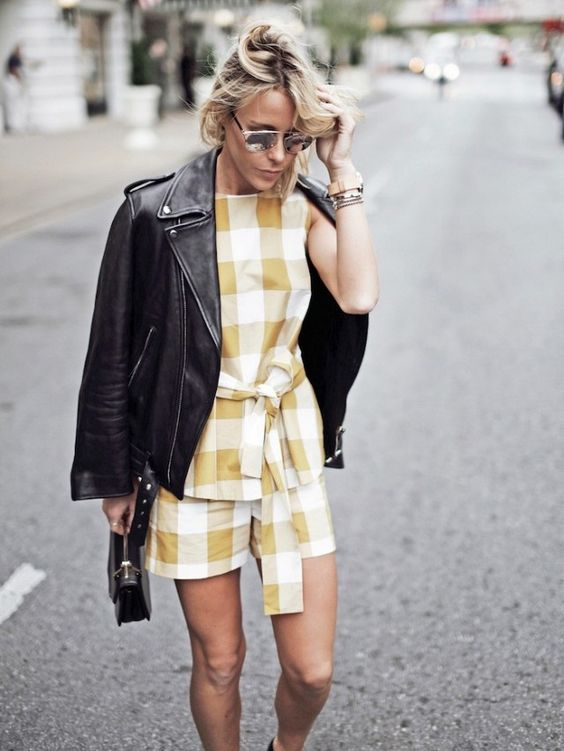 Mary Seng of Happily Grey wears gingham in yellow - check out The Hautemommie's latest color crush!