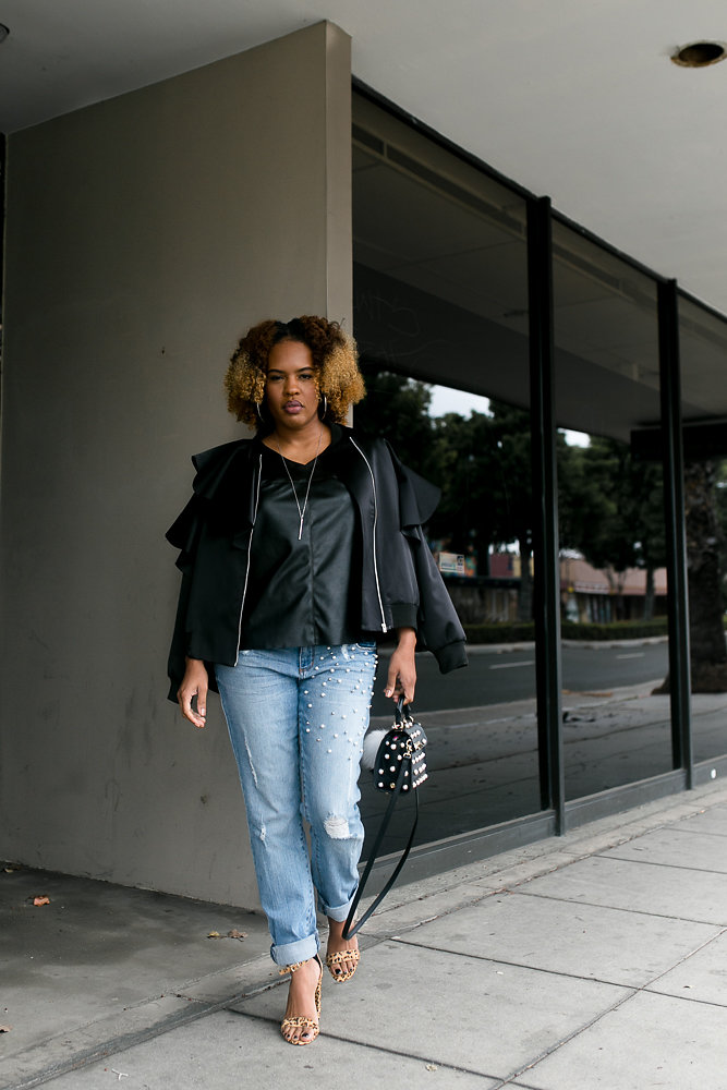 Lifestyle blogger Hautemommie wears STS Denim, Steve Madden, and Zac Posen