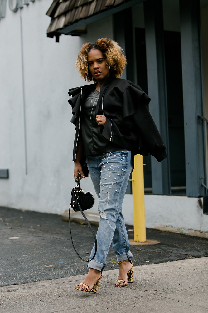 Style influencer Hautemommie dons the pearl trend