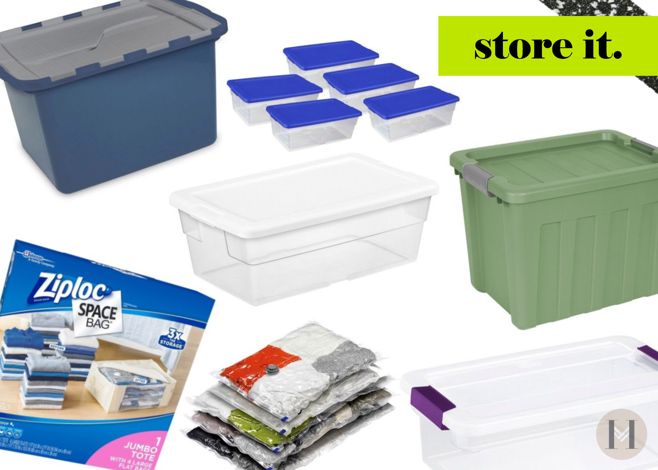 Use storage bins to declutter for spring says blogger Hautemommie