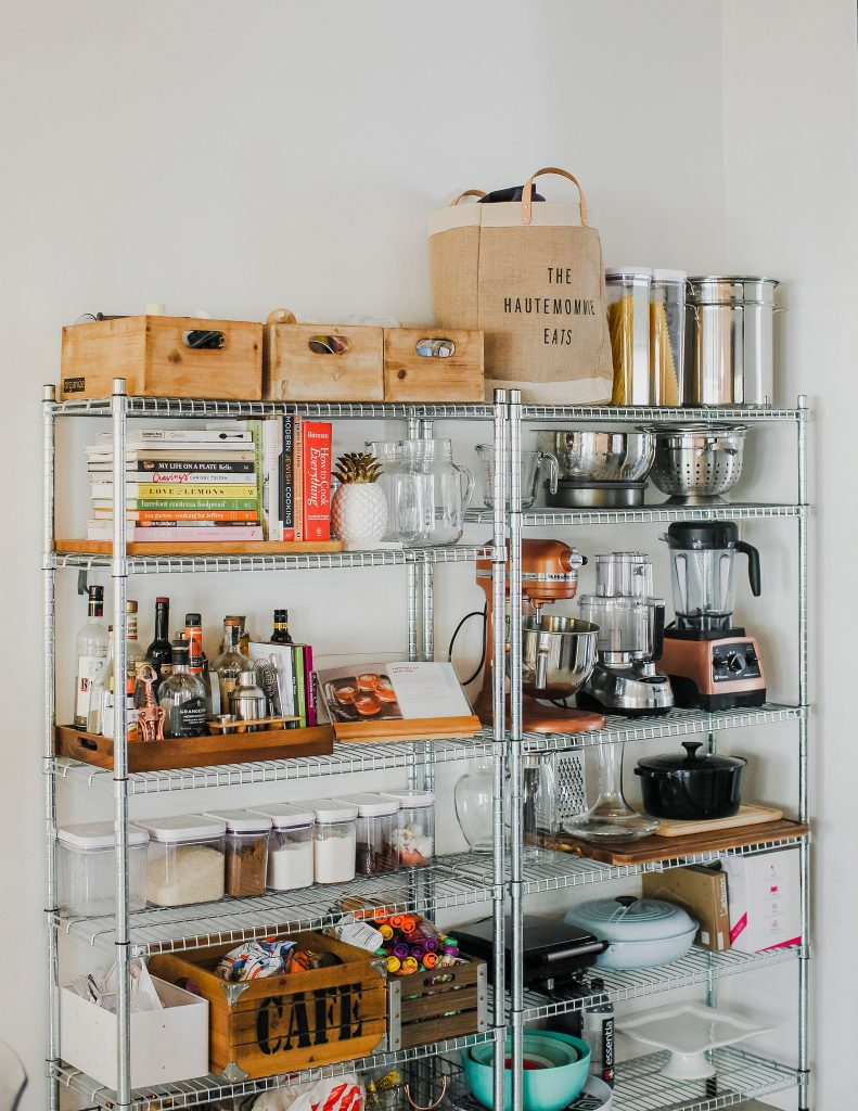 Photo of styled shelves in a kitchen